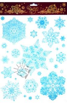 Украшение новогоднее оконное Снежинки (31242)
