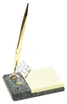 """Ручка шариковая """"Antique"""" с подставкой из темно-зеленого мрамора (600463)"""