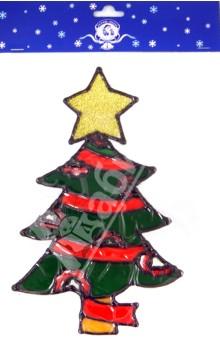 """Новогодняя наклейка на окно """"Елка"""" (585809)"""