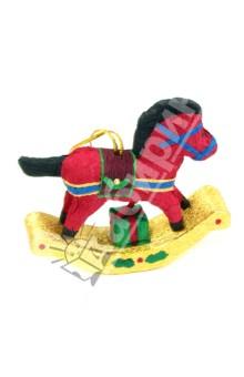 Новогодняя Лошадка из папье-маше (8 см, 2 вида) (545836)