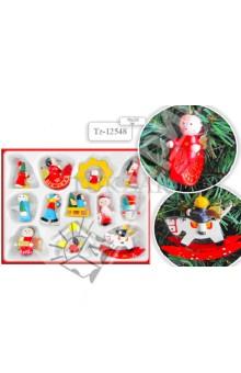 Набор деревянных ёлочных игрушек (TZ 12548)