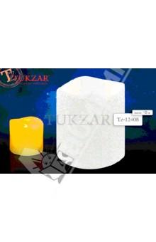 Свеча светодиодная белая с блестками (TZ 12408)