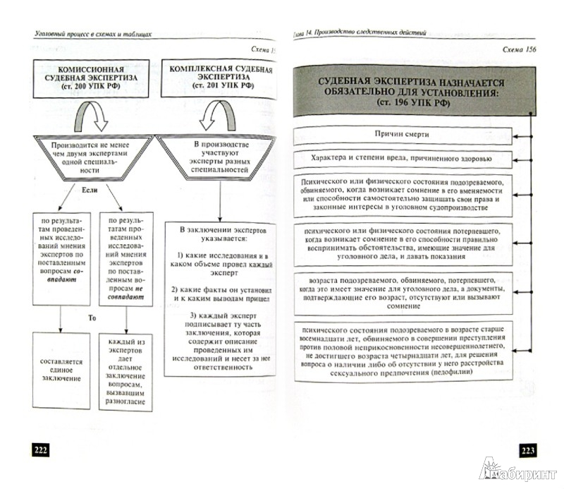 Уголовный процесс в схемах
