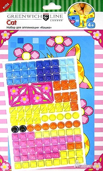 """Иллюстрация 1 из 3 для Набор для аппликации """"Кошка"""" из объемного пластика (AP00111)   Лабиринт - игрушки. Источник: Лабиринт"""