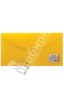 Папка-конверт с кнопкой желтая (224032) Brauberg