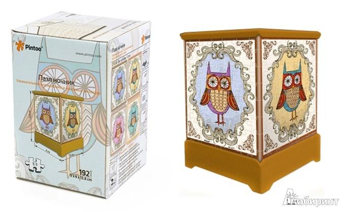 Иллюстрация 1 из 2 для 3D Пазл Ночник Совы (Q1036) | Лабиринт - игрушки. Источник: Лабиринт