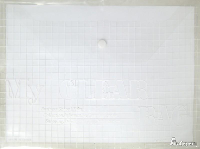 Иллюстрация 1 из 10 для Папка на кнопке. А4. Пластиковая. Белая (CY209-12-W)   Лабиринт - канцтовы. Источник: Лабиринт
