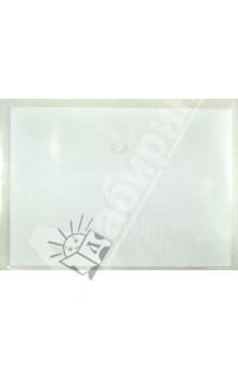 Папка на кнопке А4 пластиковая, белая (CY209-18-W)