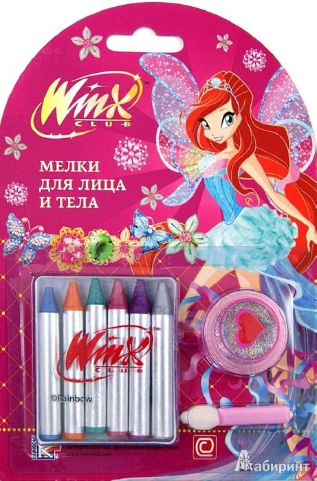 Иллюстрация 1 из 3 для Мелки для лица и тела. 6 цветов металлик с блестками (FC-6PG/WHJ) | Лабиринт - игрушки. Источник: Лабиринт