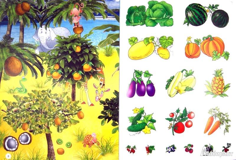 Иллюстрация 1 из 7 для Живая картинка. Овощи и фрукты. Что где растет? | Лабиринт - книги. Источник: Лабиринт