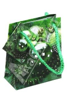 Пакет подарочный новогодний 8x10x4см (TZ 9580)