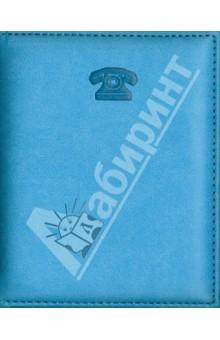 """Телефонная книга """"Виннер"""". Голубая. 105х136 мм. 128 страниц (30407-25)"""