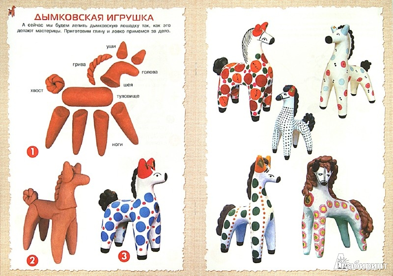 Как сделать дымковская игрушка лошадь