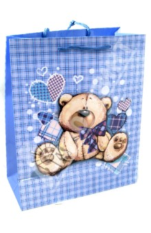 Пакет бумажный для сувенирной продукции 26x32.4x12.7 (32553)