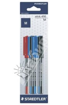 """Шариковая ручка """"Stick"""", 0,5 мм. Набор из 6 штук (430MSBK6D) STAEDTLER"""