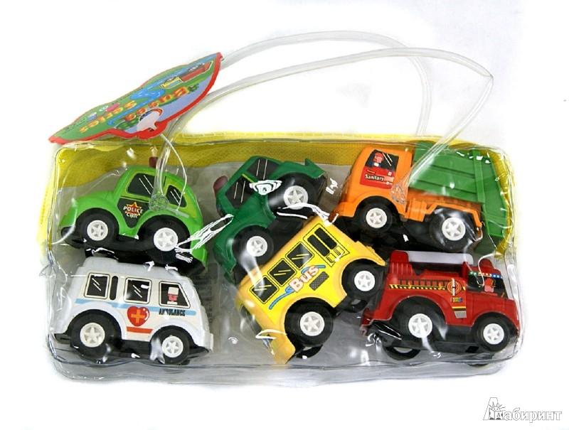 Иллюстрация 1 из 9 для Набор инерционных машинок, 6 шт, в сумке (2803-6Т)   Лабиринт - игрушки. Источник: Лабиринт