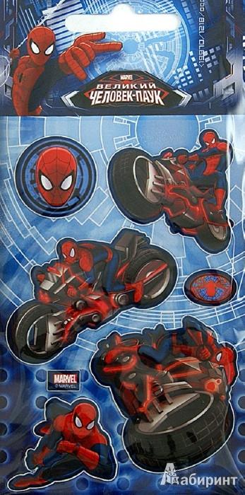 """Иллюстрация 1 из 3 для Наклейки детские """"Marvel. 3D Человек-паук 1"""" (DsD04)   Лабиринт - игрушки. Источник: Лабиринт"""