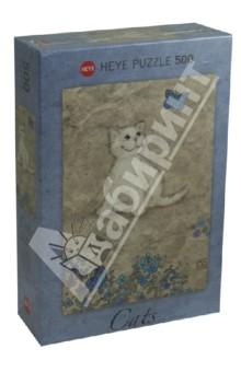 Puzzle-500 Белый котенок (29626)Пазлы (400-600 элементов)<br>Пазл-мозаика.<br>Количество элементов: 500<br>Размер собранной картинки: 35х50 см.<br>Художник: Jane Crowther.<br>Упаковка: картонная коробка.<br>Сделано в Германии.<br>