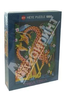 Puzzle-1000 Жирафы. Единение (29611)Пазлы (1000 элементов)<br>Пазл-мозаика.<br>Количество элементов: 1000<br>Размер собранной картинки: 50х70 см.<br>Материал: картон<br>Упаковка: картонная коробка.<br>Сделано в Германии.<br>
