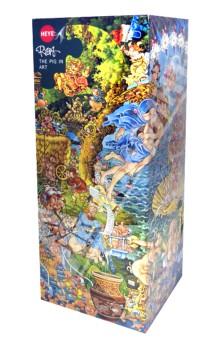 Puzzle-4000 Искусство. Хрюшки (29637)Пазлы (2000 элементов и более)<br>Пазлы-мозаика.<br>Правила игры: вскрыть упаковку и собрать игру по картинке.<br>Кол-во элементов: 4000 <br>Размер собранной картинки: 53,5х37,8 см.<br>Сделано в Чехии.<br>