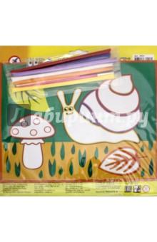 Картинка из песка Улитка (2631)Конструирование рамок, коллажей и панно<br>Набор для детского творчества.<br>В комплекте: цветная основа с контуром рисунка и клеевым слоем, 6 пакетиков цветного песка, глазки на самоклеящейся основе.<br>Материалы: картон, песок, пластиковые детали.<br>Для детей от 5-ти лет.<br>Сделано в Китае.<br>