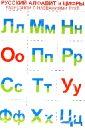 Русский алфавит и цифры (разрезной с названиями букв)