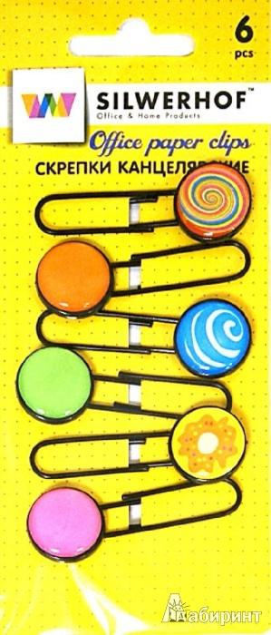 Иллюстрация 1 из 8 для Скрепки канцелярские CANDY, 6 шт (492016) | Лабиринт - канцтовы. Источник: Лабиринт