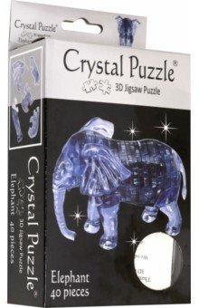 3D Головоломка Слон (90135)Головоломки<br>Трехмерная 3D головоломка от Crystal Puzzle. <br>40 деталей.<br>Инструкция внутри.<br>Материал: пластик.<br>Рекомендуемый возраст: от 14 лет.<br>Упаковка: блистер.<br>Сделано в Китае.<br>