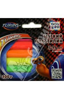 Мягкий пластилин Турбо 100 грамм, 6 штук (51219)