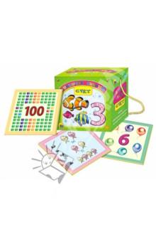 Счет. Сундучок знанийЗнакомство с цифрами<br>Набор обучающих карточек Счет в игровой форме познакомит вашего малыша с цифрами и основными математическими знаками, научит соотносить количество с числом. На отдельных карточках ребенку встретятся простые математические задания, которые нужно будет решить.<br>В наборе 35 карточек.<br>Упаковка: картонная коробка.<br>Для детей от 3 лет.<br>