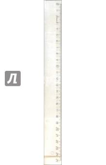 Линейка 25 см пластик, прозрачная