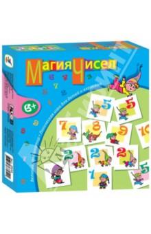 Игротека. Магия чисел (2633)Карточные игры для детей<br>Игра учит составлять ряды из чисел по определённым правилам, набирая как можно больше очков, развивает логические и математические способности ребёнка, тренирует усидчивость, наблюдательность.<br>Производство: Россия<br>
