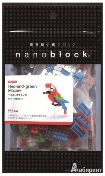 "Иллюстрация 1 из 2 для Конструктор Nano ""Red-and-green Macaw"" (004065)   Лабиринт - игрушки. Источник: Лабиринт"