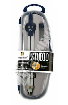 Готовальня Studio 2 предмета в пластиковом пенале (210325)Наборы для черчения, готовальни<br>Набор чертежных инструментов в пластиковой коробке.<br>Количество предметов: 2: циркуль 155 мм с двумя сгибаемыми ножками и подстраиваемой иглой, запасной грифель.<br>Производство: Италия.<br>