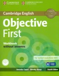 Objective First 4 Edition Workbook  without answers +СD