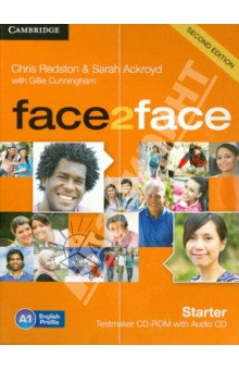 Face2Face 2Edition Starter Testmaker CD-ROM + Audio CDАнглийский язык<br>Face2face Second edition is the flexible, easy-to-teach, 6-level course (A1 to C1) for busy teachers who want to get their adult and young adult learners to communicate with confidence. The face2face Second edition Starter Testmaker CD-ROM and Audio CD gives teachers the flexibility to create, edit, save and print their own tests. It s easy to use and offers a range of functionality for teachers who like to adapt tests to their students  particular needs. Teachers can choose from Progress tests for each unit and a bank of additional questions focusing on grammar, vocabulary and Real World language. The Testmaker can produce two versions of each test (to prevent students from sharing answers) and provides all the audio for test listening components, plus a link to a downloadable Placement test.<br>Minimum Requirements<br>512MB of RAM (1GB recommended)<br>1024 x 768 screen resolution or higher<br>А word processor (tests created for the Testmaker have been optimised for use with Microsoft Word or OpenOffice<br>For PC<br>Microsoft Windows XP (SP3),<br>Windows Vista (SP2), Windows 7 and Windows 8<br>For Mac<br>Mac OSX 10.5 or later<br>For Linux<br>Ubuntu 10.04 Fedora 15<br>