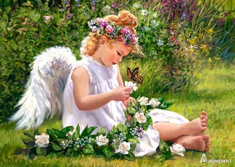 """Иллюстрация 1 из 4 для Puzzle-500 """"Ангел в саду"""" (B-51991)   Лабиринт - игрушки. Источник: Лабиринт"""