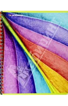 "Тетрадь в клетку, 96 листов ""Rainbow Nature"", на спирали, 4 вида (811463-85) Silwerhof"