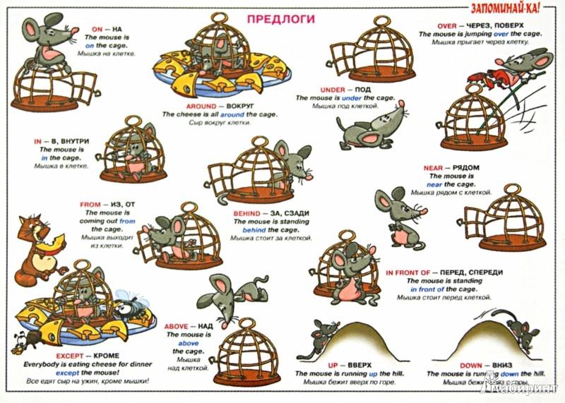 Английский язык для детей предлоги в картинках