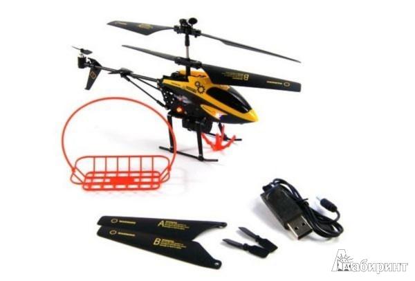 Иллюстрация 1 из 2 для Вертолет р/у с гироскопом,с корзинкойС-00104(V388) | Лабиринт - игрушки. Источник: Лабиринт