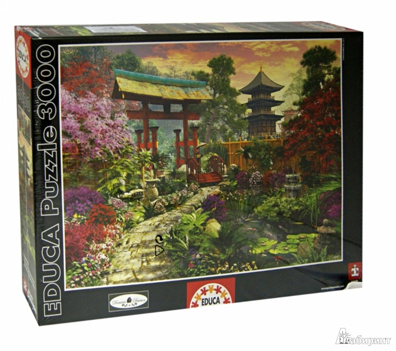 """Иллюстрация 1 из 2 для Пазл-3000 """"Японский сад"""" (16019)   Лабиринт - игрушки. Источник: Лабиринт"""