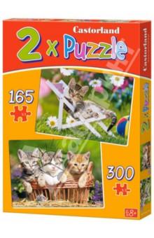 Настольная игра Котята в саду. Пазлы 2 в 1