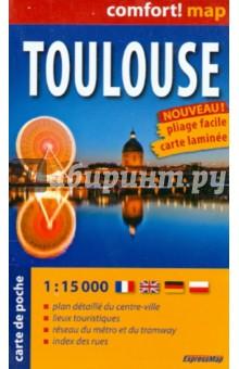 Тулуза. карта-покет ламинированная 1 : 15 000