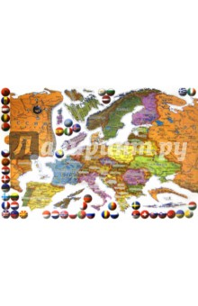 Настольная игра Карта Европы. Пазл магнитный