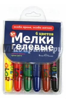 """Мелки гелевые выкручивающиеся """"Multicolor"""" (6 цветов) (31-0005)"""