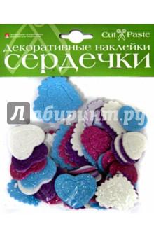 """Декоративные наклейки """"Сердечки"""", в ассортименте (2-021)"""
