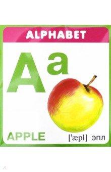 Набор карточек Английская азбукаАнглийский для детей<br>Вашему вниманию представлены карточки с буквами английского алфавита. На каждой карточке изображен предмет или животное, которое начинается на эту букву.<br>Упаковка6 пакет с подвесом.<br>