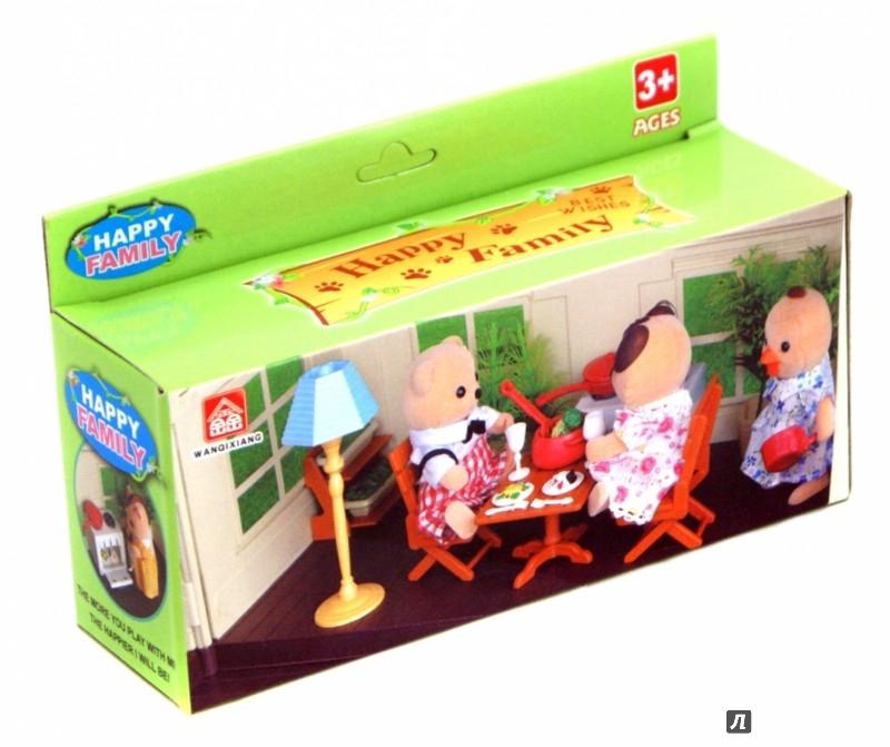 Иллюстрация 1 из 13 для Мебель для гостиной (2 стула, стол, посуда) (012-04В) | Лабиринт - игрушки. Источник: Лабиринт