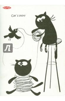 Записная книжка Cat story А4 (М-820460N)Записные книжки большие (формат А5 и более)<br>Записная книжка в клетку.<br>Количество листов 60.<br>Тип бумаги: офсет. <br>Способ крепления: прошивка.<br>Формат А4.<br>В ассортименте.<br>Производство: Россия.<br>
