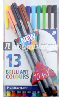 Капиллярная ручка Triplus (0,3 мм., 13 штук) STAEDTLER